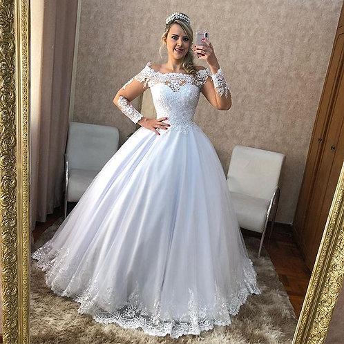 Vestido De Noiva Manga Longa Ascedência
