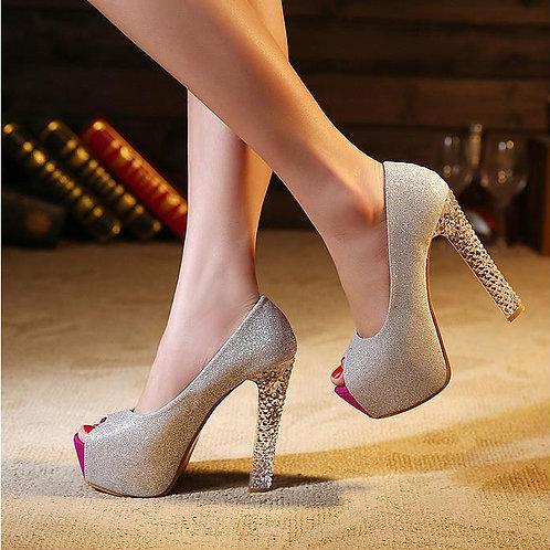 Sapato Peep Toe Sensacional