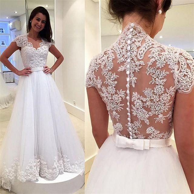 Vestido De Noiva Princesa Com Laço