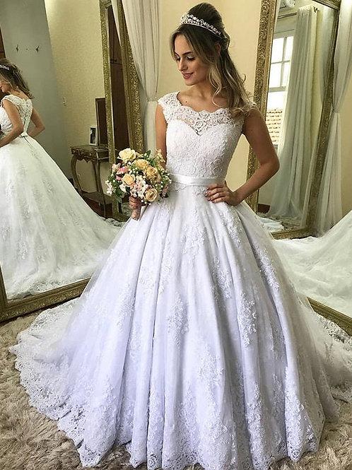 Vestido De Noiva Sem Decote