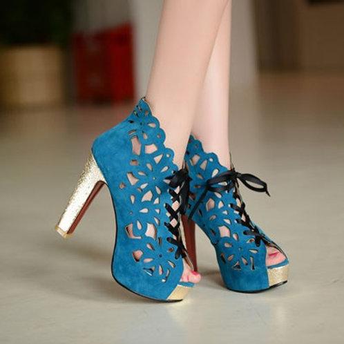 Sapato Peep Toe Atração