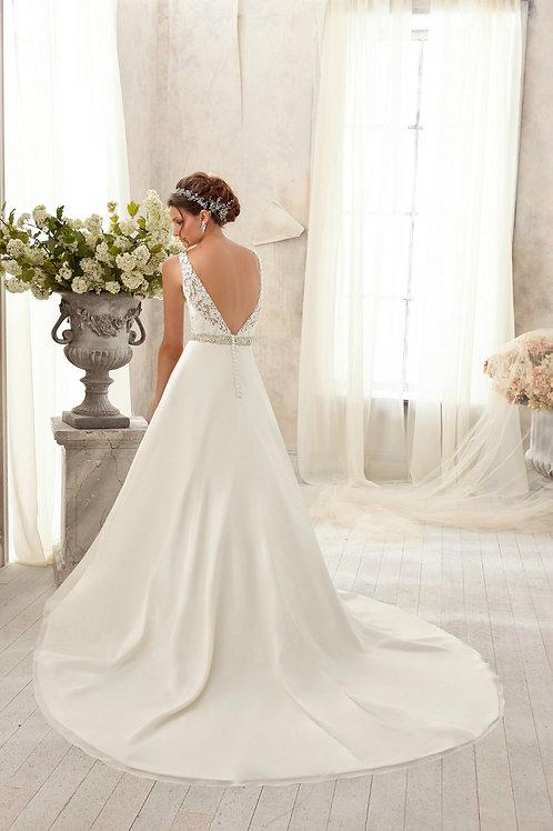 Vestido de Noiva Calda Longa Expressiva