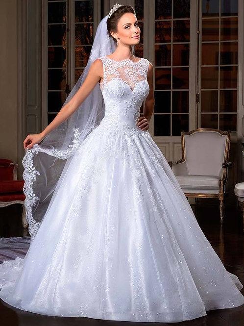 Vestido de Noiva Calda Longa Doçura