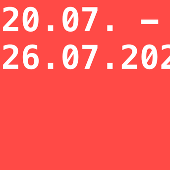 Anmeldephase WINTERSEMESTER 2020/21