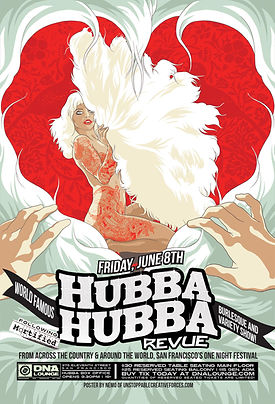 Hubba Hubba Burlesque Flyer June 2018