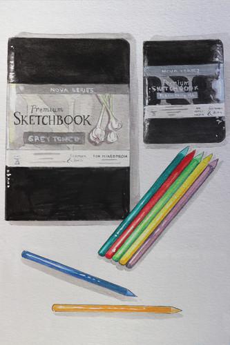 Nova Sketchbook and Colored Pencils