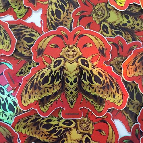 Holo Death Moth Sticker
