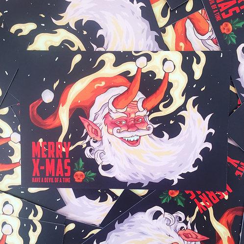 Hail Santa Postcard