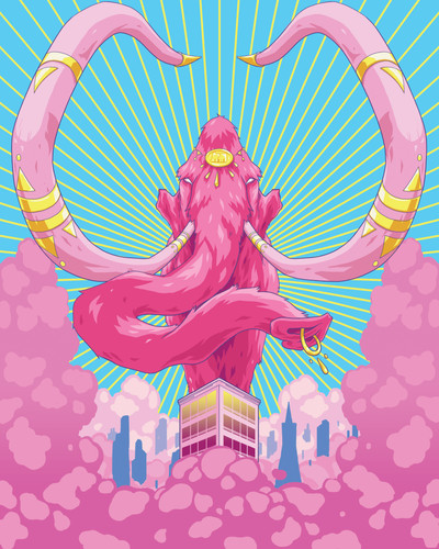 Pink Mammoth Poster