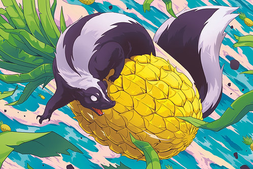 PINAPPLE SKUNK Label Design