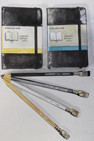 Moleskine Sketchbooks and Blackwing Pencils