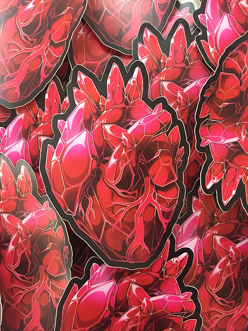 Large Crystal Heart Sticker