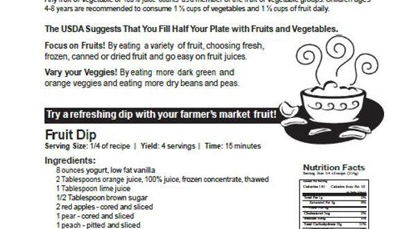 Fruits and Vegetables Newsletter