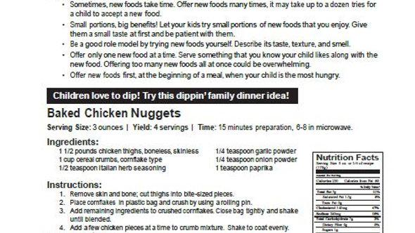 Picky Eaters Newsletter
