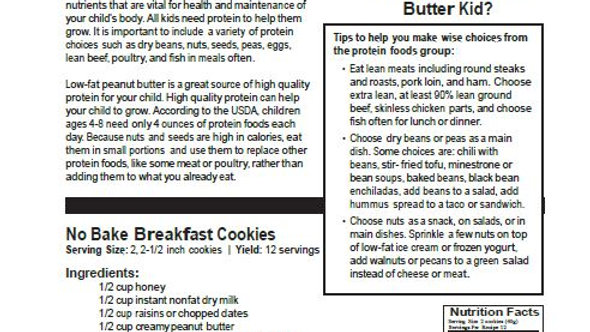 Peanut Butter Kid Protein Newsletter