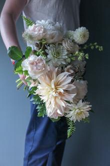White + Blush Bridal Bouquet