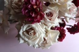 Quicksand Roses + Dahlias