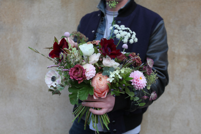 Delivery bunch filled with the last of the summer blooms.