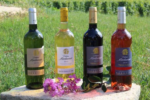 Our four Montaunoir vintages
