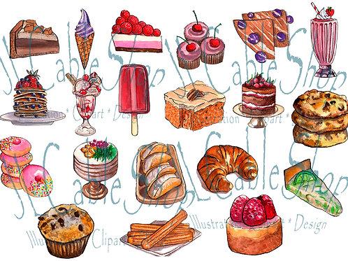 Clip art: Desserts