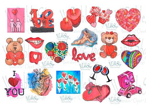 Clip art: Amor y amistad