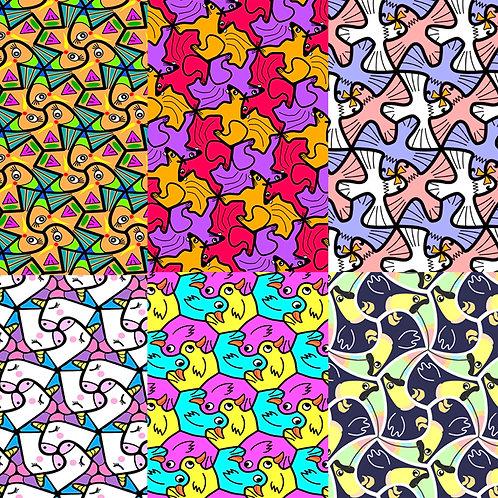 Digital paper: patrones geométricos 1