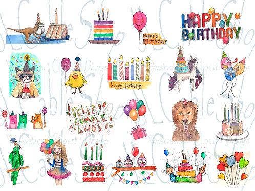 Clip art: Fiesta de cumpleaños