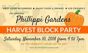 November 10th Block Party for Phillippi Gardens Neighborhood