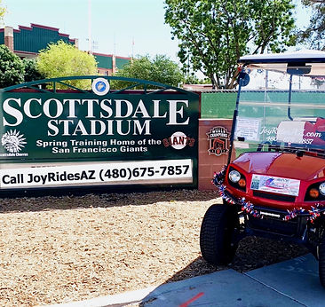 Scottsdale Stadium and Golf Cart