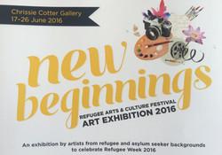 Flyer for the New Beginnings Festiva