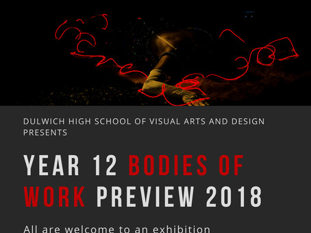 Year 12 Bodies of Work Exhibition 2018