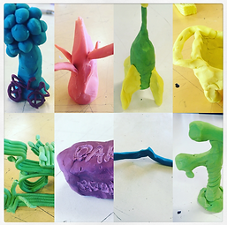 Playing with modelling clay
