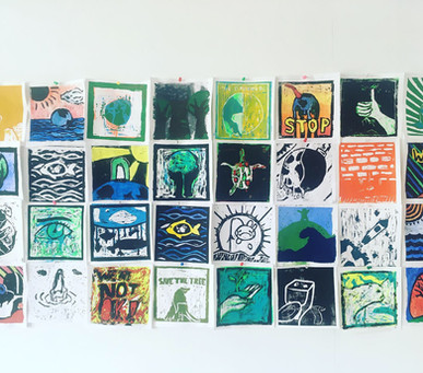Lino prints with conscience!