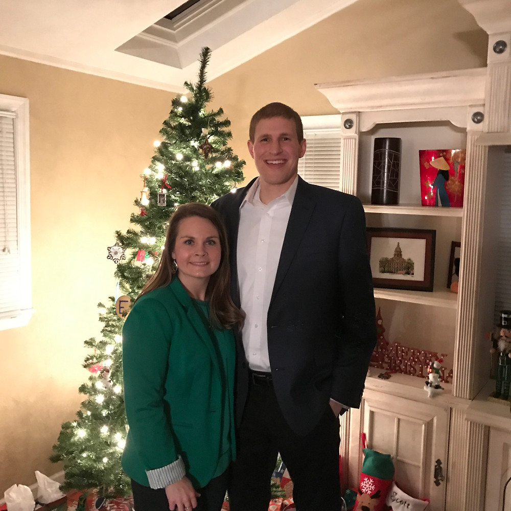 Our first Christmas as Mr. & Mrs.