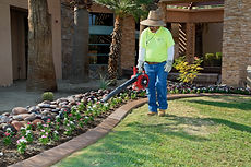 Desert Arc workin on yard