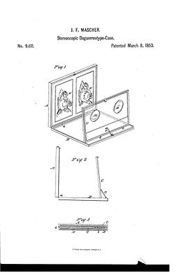 J. F. Marscher steroscopic daguerreotype case patent