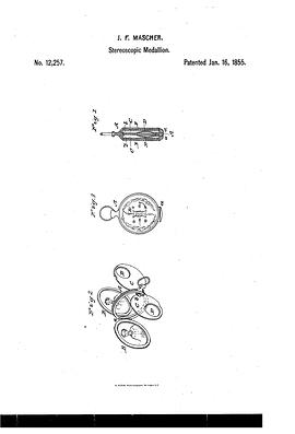J. F. Mascher stereoscopic medallion patent