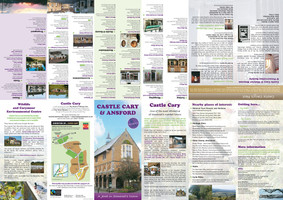 Castle Cary & Ansford map, folds down to DL size