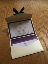 Wedding invite envelope set