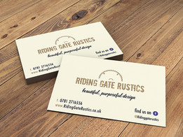 Riding Gate Rustics business cards