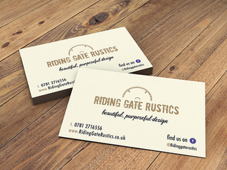 Riding Gate Rustics business cards