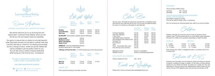 LHS 8pp z-fold Price List (inner)