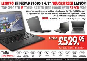 Laptop A5 advert