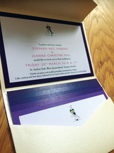 Wedding invitation - close up