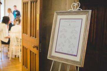 Wedding table plan (in situ)