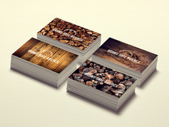 Riding Gate Rustics business cards - with mixed 2nd side designs
