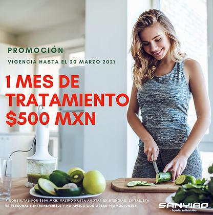 4 Consultas por $500 mxn