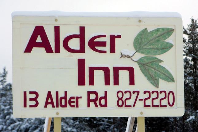 Alder Inn Hand Carved Sign