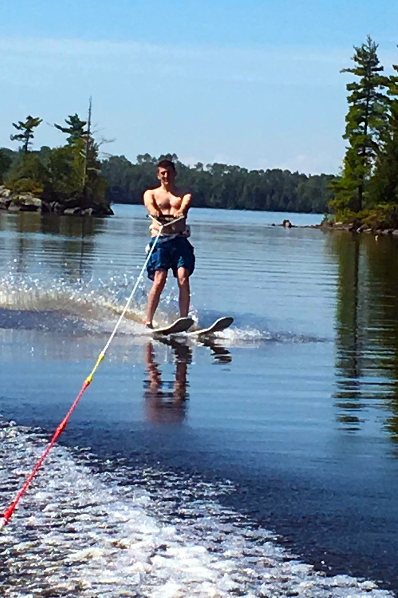 Skiing on Birch Lake