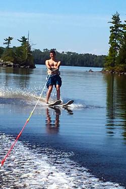 Skiing on Birch Lake